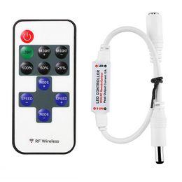 Wholesale Lighting 12 V Dc - Mini Remote Controller for Single Color LED Strip Lights, RF Dimmer for 12 V DC LED Light Strips, 12A, Wireless Remote Control