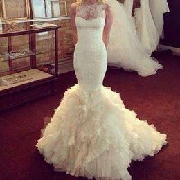 Wholesale Wavy Skirts - Lace Appliques Wedding Dress Cap Sleeve Boho church Wedding dresses Amazing Cap Sleeves Sheath Mermaid Wavy skirt Bridal dress Z3