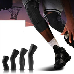 Wholesale Volleyball Accessories - men Professional honeycomb sports safety protecter volleyball basketball kneepad skate ankle support kneecap Patella knee pads