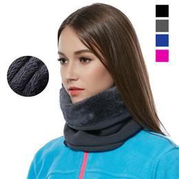 Wholesale 3in1 Ring - Wholesale-3in1 Outdoor Winter Thicken Warm Fleece Neck Warmer Snood Cycling Scarves Men Bufanda Ski Bicycle Scarf Women Cachecol Feminino