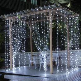 Canada 6 * 3M 3 * 3M LED lumière de Noël Halloween décoration lumières LED bande lumière intérieure en plein air en utilisant IP65 8 fonction UE ou US plug cheap eu function Offre