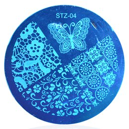 Wholesale Flower Polish - Wholesale- 1pcs Nail Art Polish Image Stamp Stamping Plates Template Fashion Butterfly Flower Designs Manicure Nail Stencils Decor STZA04