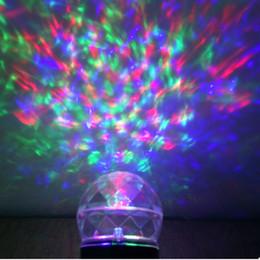 Wholesale Crystal Led Spotlight - New Kaleidoscope Spotlight Rotating Led Projector Light Outdoor Christmas Halloween Crystal Ball Lights Waterproof Landscape Flame Lightings