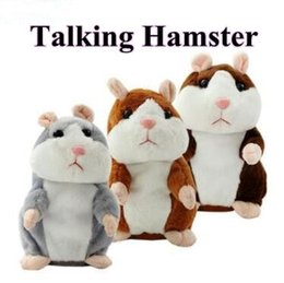 Wholesale Hamster Sound - 3 Colors New Talking Hamster Plush Party Toys Speak Sound Record Hamster Plush Animal Kids Child Christmas Gifts Party Favor CCA7769 50pcs