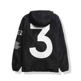 Wholesale Clothes For Men Women - KANYE Jacket Men Hip Hop Windbreaker TOUR 3 Jackets Men Women Streetwear Fashion Outerwear Coat black White YEEZUS Y3 Jacket Clothes for Men