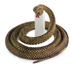 Wholesale Wholesale Prank Gadgets - 2016 New Novelty Fun Toy 130cm Soft Rubber Snake Safari Garden Props Prank Funny Gadgets Halloween Jokes Toys