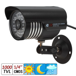 """Wholesale Night Vision Bullet Ir Camera - 1000TVL 1 4"""" CMOS 6mm Lens 48-IR LED Waterproof Bullet Security Camera with IR-CUT capable of up to 30 meters night vision recording"""