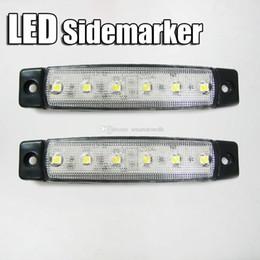 Luces traseras claras online-2pcs 24v luz de marcador claro camión remolque LED lámpara de cola Lorry luz trasera B00374 OSTH