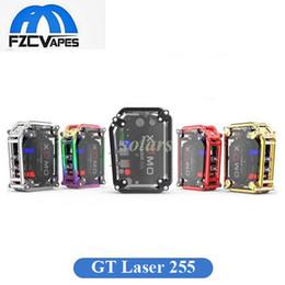 Wholesale Gt Box - Authentic XOMO GT Laser 255 Box Mod 3500mAh Waterproof Vape Mod Max 150W with Laser Flash Light 100% Original GT Laser Mod