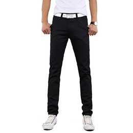 Wholesale Korean Fashion Hot Pants - Wholesale-Top hot selling summer 2016 new men's fashion casual pants Korean version of the classic Slim straight solid color XL pants tide