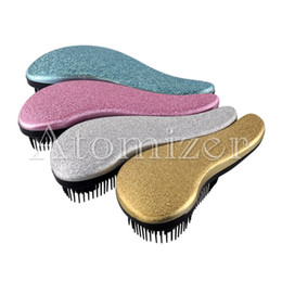 Wholesale Healthy Massage - Beauty Healthy Styling Care Hair Comb Magic Professional Detangle Brush Comb TT Hair Comb Gold Pink Purple hair brush 5 Colors 0604071