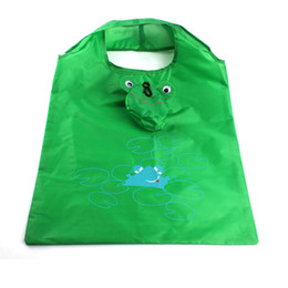 Wholesale Wholesale Frog Handbags - Wholesale-Excellent Quality 2016 Women Eco Friendly Reusable Portable Shopping Bag Grocery Handbags Tote Cartoon Frog Folding Holders Bags