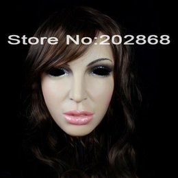 Wholesale Half Silicone Masks - SH-8 party crossdress masquerade fancydress costume nightclub cosplay female silicone half face mask props fixed with string