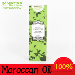 Wholesale Hair Care Oils - 100% PURE 60ml Morocco argan oil glycerol Nut oil Hairdressing hair care products essential moroccan oil accept private label OEM ODM