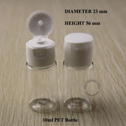 Wholesale Small Travel Jars - Free Shipping 10ml Empty Plastic PET Bottle With Lid For Small Travel Shampoo Lotion Bottles Containers Tubes Jars Set 20pcs lot
