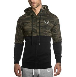 Wholesale Aesthetics Bodybuilding - 2018 Muscles Brothers RSRV Camouflage Color Hoodies Gymshark Aesthetics Bodybuilding Fitness Leisure Hoodies running pants