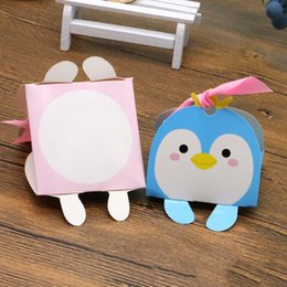 Wholesale Kids Party Paper Bags - 100pcs super mini Cartoon Animal Baby Shower paper Candy Boxes gift bag Kid Boy Girl Birthday Party decoration Chocolate package