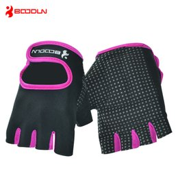 Wholesale Gym Fitness Gloves Wholesale - BOODUN Women's Men's Fitness Training Gloves Best Quality Half Finger Lycra&Microfiber Sports Gloves Athletic & Outdoor Accs BD-7140003