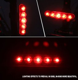 Wholesale Led Strip Bicycle - Bicycle Five Led Strip Tail Lights Mountain Road Bike Taillights At Night Laser Safety Warning Taillights