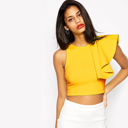 Wholesale Sexy Club Clothes Wholesale - Wholesale-Women Club Party Clothing Women Sexy Tank Top 2015 New Summer Crop Top Feminine Bralet Plus Size Top Women Camisole