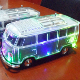 Wholesale Bus Player - Bus Bluetooth Speaker 4 color WS-267BT with coloful LED MP3 Player Support led light FM TF USB drive Aux- in free DHL