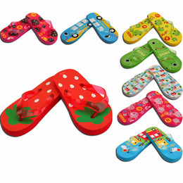 Wholesale Wholesale Baby Flip Flops - Childrens Flip Flops Childrens Beach Shoes Cool Slippers Kids Animal Cartoon Flip Flops Baby Slippers Child Shoes Kids Athletic Shoes