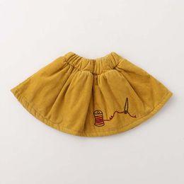 Wholesale Korean Kids Winter Clothing - Girls Skirts 2017 new Autumn Winter Korean embroidery Children short Skirt Toddler Skirts Kids Skirt Girls Clothes Fashion Kids Dress A1190