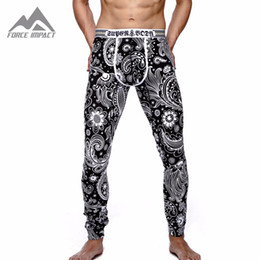 Wholesale Thermal Pants For Men - Wholesale-2016 New Cotton Men's Body Long John Pants High Quality Thermal Long Johns Print Underpants for Men SU1506 Fashion Long John