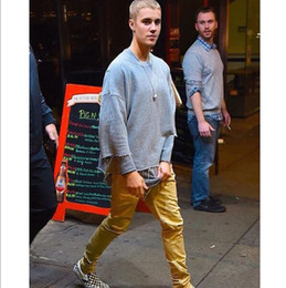 Wholesale West Side T Shirt - Newest men t shirt fall collection for men three quarter male shirt JUSTIN BIEBER clothes kanye west double sided tops