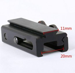 Wholesale Dovetail Rail Extension - 20mm to 11mm Picatinny Weaver Adapter Dovetail Rail Extension Weaver Scope Mount Base Adapter