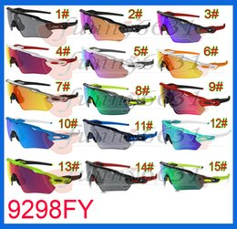 Wholesale Titanium Glasses Women - newest summer man sport Cycling sunglasses spectacles women Bicycle goggle Sports Outdoor colours Sun Glasses 15colors free shipping