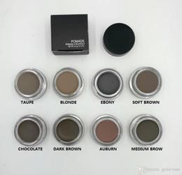 Wholesale Hot Blondes - HOT Pomade Medium Brown Waterproof Makeup Eyebrow 4g Blonde Chocolate Dark Brown Ebony Auburn Medium Brown TALPE