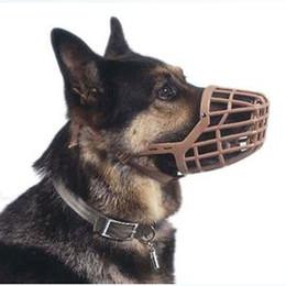 Wholesale Basket Dog Muzzles - Pet Dog Muzzle PE Plastic Basket Adjustable Mesh Mask Mouth Cage Dog Supplies Pet Products