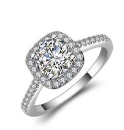 Solitär verlobungsring weißgold online-4CT Cushion-Cut Lad Delicated Diamant Solitaire Verlobungsring 14k White Gold Fill Over