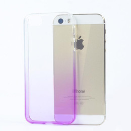 Wholesale Iphone5 Case Super - Gradient iphone7 Super Flexible Clear TPU Case For Iphone5 5se 6 Slim Crystal Back Protect Skin Rubber Phone Cover Fundas Silicone Gel Case