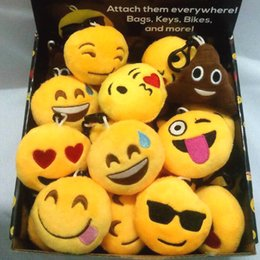 Wholesale Cartoon Plush Emoji Kehchain Cute Expression Dolls Keychain Different Face Emoji Keychain Kids Toy