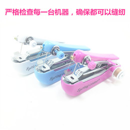 Wholesale Fleece Sewing Patterns - Small mini household sewing machine manual sewing machine simple and convenient portable pocket-sized manual sewing eat thick