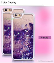 Wholesale Star S4 Phone - Fashion Transparent phone cases Fun Glitter Star Liquid Phone Back Case cover For Iphone 5 6s 6s plus Samsung Galaxy S4 S5 S6 S7 S7 edge