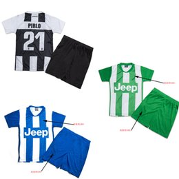 Wholesale China Brand Suits - B Quality China Cheap Kits Soccer Jersey Home Away Kids Sport Suit Child Football Set Boy Jersey Have Team LOGO WITHOUT BRAND LOGO
