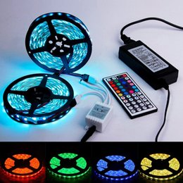 Wholesale Silicone Led Waterproof Smd - 120LEDs M 600LEDs 5M Double Row RGB Strips SMD 5050 LED Strip 12V Silicone Tube Waterproof Flexible Strip Light RGB LED Strips Rope Lights