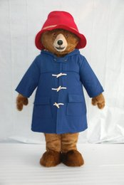 Wholesale Adult Bear Costumes - High-quality Real Pictures paddington bear Mascot Costume Mascot Cartoon Character Costume Adult Size free shipping