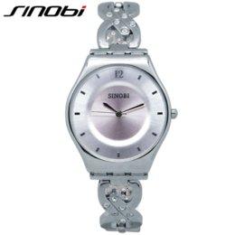 Wholesale Sinobi Watches Quality - SINOBI Women Watches Waterproof Relogios Feminino Fashion High Quality Pink Ladies Watch Bracelet Quartz Female Wristwatch