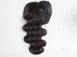 цвет волос для азиат Скидка Бразильский наращивание волос девственницы кружева передний класс 7А волос продукт необработанный натуральный черный объемная волна 4 * 4 дюймов кружева закрытие