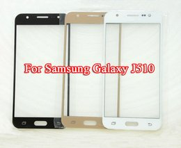 Wholesale Touchscreen Case - Hot Outer Glass Cover Replacement for Samsung Galaxy J5 2016 J5108 J510F touchscreen Outer Glass For Samsung J510 Cases with free Tool