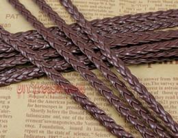 Wholesale Braided 5mm - Free Ship 100Meters 5mm Dark Coffee Flat Faux Braid Leather Cord, Bracelet Cord, DIY Accessory Cord