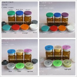 Wholesale Medicine Flip Cap Wholesale - Wholesale- 1000pcs lot 5ml Amber Pharmaceutical Glass Bottle & Flip Off Cap,1 6oz Clear Sample Vial,Medicine,Serum