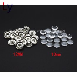 Wholesale Wholesale Custom Jewelry Brass - Custom jewelry Snap Button Making Brass Snap Buttons with Clear Glass Cabochons, Platinum, Clear, Button: 12mm(Add freedom print photos)
