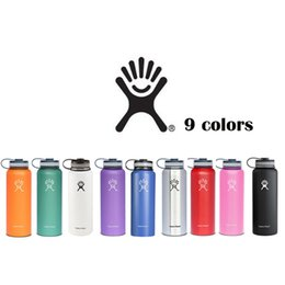 Wholesale Drinking Caps - Hydro Flask 18oz 32oz 40oz Vacuum 18 8 Insulated Stainless Steel Water Bottle Wide Mout w Flat Cap Free the USA
