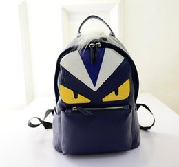 Wholesale Fashion Little Boy - free shipping2017 new shoulders bag small fresh College Wind handbag Little monsters leisure travel PU backpack