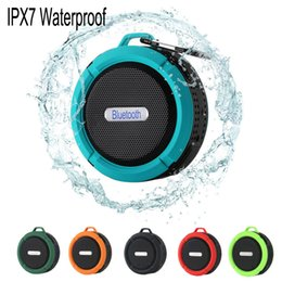 Wholesale Ipad Mini Reader - C6 IPX7 Outdoor Sports Shower Portable Waterproof Wireless Bluetooth Speaker Suction Cup Handsfree MIC Voice Box For S6 S7 iPhone 6 iPad PC